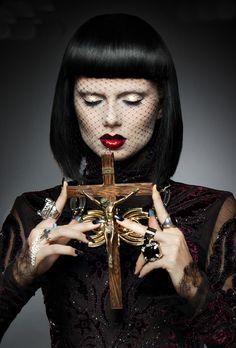 """Antichrist Superstar"" - Photographer: Tony Veloz | Stylist: Oksana Anel | Makeup Artist: Meagan Shea | Hair stylist: Jessica Kidd"