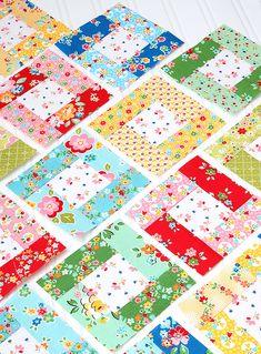 6 heads 12 blocks - August Bright Hopes quilt block tutorial by Nadra Ridgeway, Ellis & Higgs