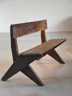 Ernesto Gomez Gallardo; Wood and Metal Bench, c1944.