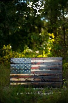 Wood flag, wood signs, cedar, American flag, halves, rustic,