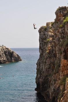 Boy diving, Salento, Italy