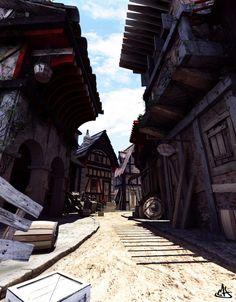 Medieval street by Manu Herrador