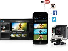 "Expand your GoPro experience with the free GoPro App and GoPro Studio software. The GoPro App allows you to control your camera remotely using your phone or tablet, view and share your content and watch ""best of"" videos on the GoPro Channel. Use GoPro Studio to create your own engaging GoPro-style videos to share with the world."