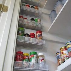 Organize your pantry for less with these dollar store DIY pantry organization ideas. These organizing ideas are perfect for small pantries to help you maximize your space. There are cheap pantry organization and storage ideas for cans, jars, spices, snacks and much more! Organisation Hacks, Small Pantry Organization, Diy Kitchen Storage, Pantry Storage, Smart Storage, Storage Hacks, Wall Storage, Diy Storage, Kitchen Hacks