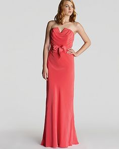 Ted baker dress cassii strapless maxi bloomingdale s
