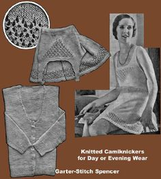 Iva Rose Vintage Reproductions - Weldon's - Underwear for Ladies in Knitting and Crochet Crochet Vintage, Vintage Knitting, Best Fancy Dress Costumes, Sweater Knitting Patterns, Hand Knitting, Vintage Lingerie, Knit Fashion, Fashion History, Night Gown