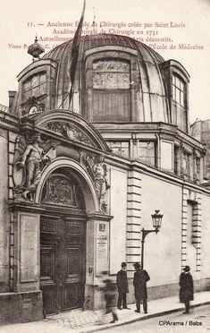 Paris 6e - Rue de l'Ecole de Médecine - Amphithéâtre de la première académie de médecine, construit en 1617.