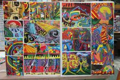 Exceptional painting and drawing projects by Art students studying qualifications such as GCSE, IGCSE, A Level, NCEA, IB and AP Visual Art. Drawing Projects, Art Projects, School Painting, Murals Street Art, Painted Boards, Arts Ed, Hero Arts, Art Portfolio, Art Education
