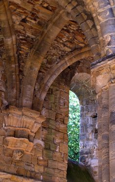 Cloister arches at Kirkstall Abbey