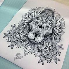 leão sketch tattoo - Pesquisa Google