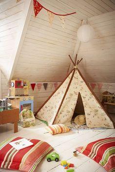 Attic inspiration for Wyatt's bigger bedroom.