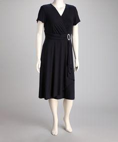 354ab06d679 R M Richards Navy Surplice Dress - Plus