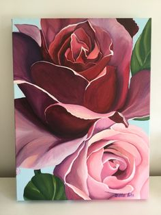 Painted by Billie Peka acrylic on canvas - Art Painting Abstract Art Painting, Art Painting, Rose Painting, Floral Painting, Flower Art Painting, Abstract Painting, Painting, Creative Painting, Acrylic Painting Canvas