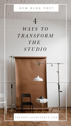 4 Ways to Transform our Photography Studio - Save for photo shoot inspiration. #photoshoot #photography