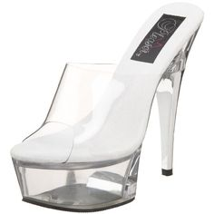 Pleaser Womens Captiva601 Platform SlideClearClear12 M US * Details can be found by clicking on the image.
