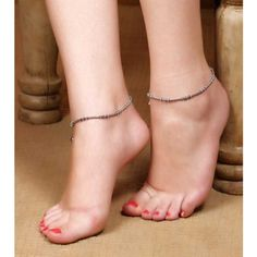 Art Mannia Oxidised Chain Style German Silver Single Anklet ! #anklets #payal