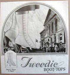 Vintage 1920 Tweedie Boot Tops Womens by kelleystreetvintage