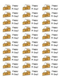 Free Pi day stickers