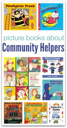 Picture Books About Community Helpers – No Time For Flash Cards Picture books about community helpers from j.m @ No Time For Flash Cards Preschool Books, Preschool Themes, Book Activities, Preschool Plans, Everyday Activities, Preschool Classroom, Community Workers, School Community, Community Helpers Preschool