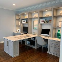 Mesa Home Office, Home Office Setup, Home Office Space, Home Office Desks, Home Office Furniture, Office Ideas, Office Decor, Basement Home Office, Diy Office Desk