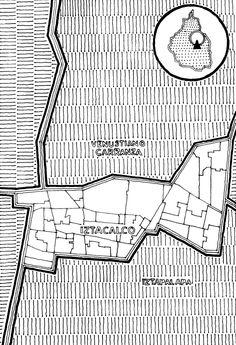 Mapa Delegación Iztacalco, Ciudad de México FONCA Enrique Flores Exploraciones Cartográficas