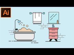 Adobe illustrator CC tutorial – How to Make a Flat Background Design For Beginners – Famous Last Words Illustrator Tutorials For Beginners, Flat Background, Portfolio Layout, Portfolio Book, Technology Design, Ad Design, Design Trends, Flat Illustration, Design Tutorials