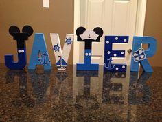 Náuticos Mickey Mouse personalizado nombre Letras  precio es