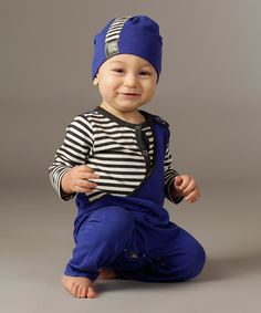 Another great find on #zulily! Sapphire Mason Playsuit - Infant by KidCuteTure #zulilyfinds