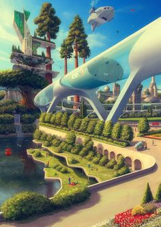 Eco City, Evgeny Kazantsev You are in the right place about Architecture city. - Eco City, Evgeny Kazantsev You are in the right place about Architecture city Here we offer yo - Futuristic City, Futuristic Architecture, Concept Architecture, Architecture Design, Sustainable Architecture, Architecture Geometric, Minimalist Architecture, Chinese Architecture, Futuristic Design