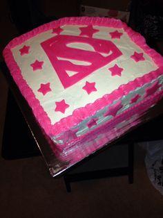 Girly superhero cake