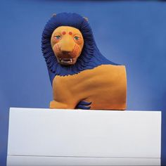 Lion from Loutraki, 550 BCE, recolored to original