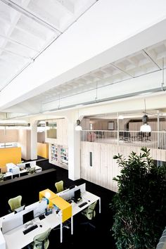 Bird eye view of open plan office~! #openplanoffice Cubicles.com