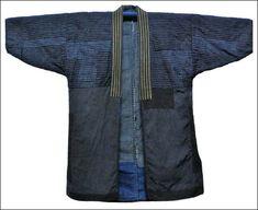 Sashiko embroidered worker's overjacket