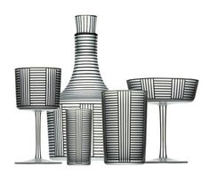 Bronzit Series B' glassware by Josef Hoffmann for Lobmeyr  One hundred years ago, in 1914, Austrian glassware company J. & L. Lobmeyr began a collaboration with modernist architect and designer Josef Hoffmann. It led to the creation of 'Bronzit Series B', a series of iconic pieces with columned vertical and horizontal lines which can now be found in museum collections all over the world.
