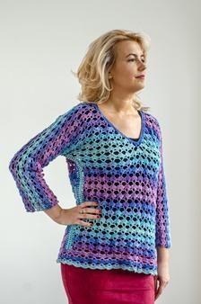 Crochet net blouse in mermaid colors image 1 Crochet Blouse, Crochet Top, Net Blouses, Mermaid Coloring, Elegant Outfit, Beautiful Crochet, Colour Images, Trending Outfits, Colors