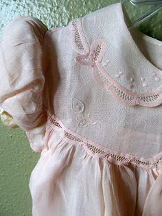 Vintage Alfred Leon Dainty Handstitches Baby Dress