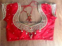 Lovely Silk Blouse Designs