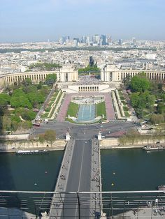 View from Eiffel Tower by photphobia, via Flickr
