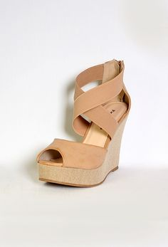 Open Toe Wedge with Top Strap