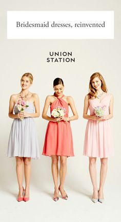 Classically chic bridesmaid dresses for rent at a quarter of the retail price - saving your friends money and closet space. Request free fabric swatches to see our shades in person! Union Station: Bridesmaid dresses you can rent or buy.