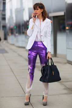 Obsessed with Elettra Rossellini Wiedemann in these stunning  Prabal Gurung pants!!  I want them!