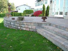 raised patio | Raised Patio with Steps | Western Interlock