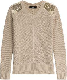 """Pin for Later: 25 hässliche Weihnachtspullover, die eigentlich ganz süß sind  Steffen Schraut Pullover """"Hampton"""" aus Baumwolle und Kaschmir mit goldenen Pailletten (229 €)"""