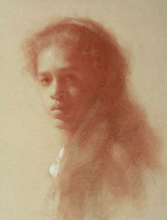 """ARTIST: Susan Lyon ~ """"Young Girl from Guatemala (pastel on toned paper)"""
