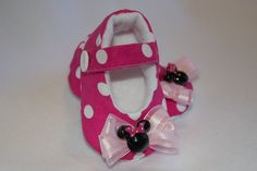Minnie Mouse inspired Baby Girl Mary Janes