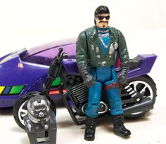"""The Piranha, with driver Sly Rax, from Kenner's """"M.A.S.K."""" toys"""