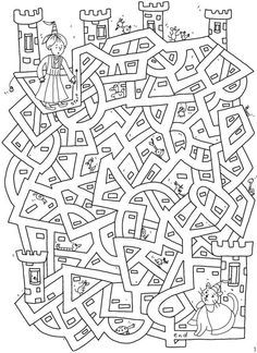 un labyrinthe Welkom bij Dover Publications Colouring Pages, Coloring Books, Chateau Moyen Age, Mazes For Kids, Hidden Pictures, Dover Publications, Activity Sheets, Preschool Worksheets, Kids Education