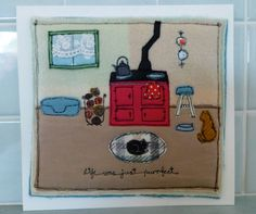 AGA ~ embroidered picture by Sweet Birdy Love