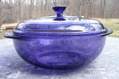 purple glass pyrex