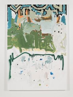 RICHARD ALDRICH Untitled. 2013. Oil, wax, enamel, acrylic and spray paint on linen. 84 x 58 inches, 213.4 x 147..3 cm